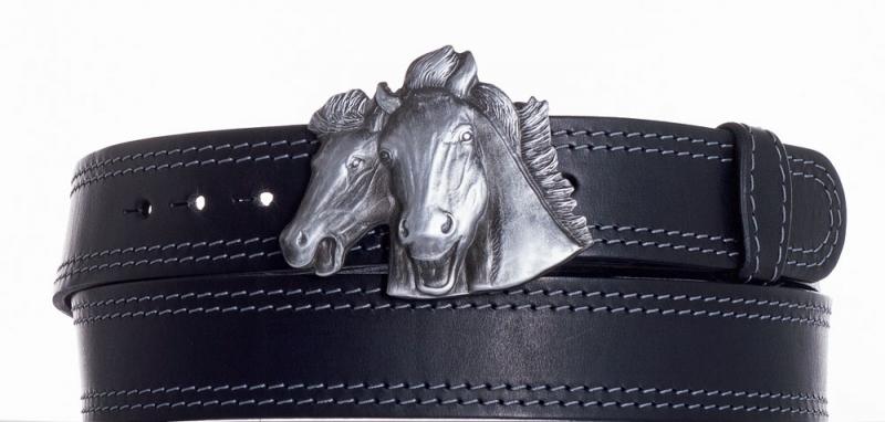 Kožené opasky - Kožený pásek Koně ob2š