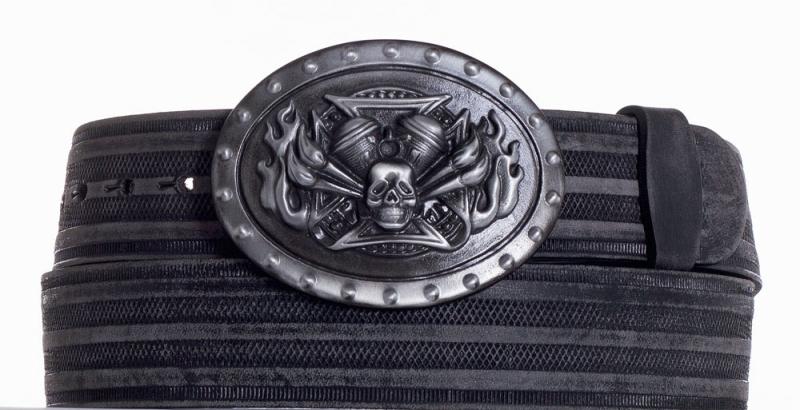 Kožené opasky - Kožený pásek Motor prb.
