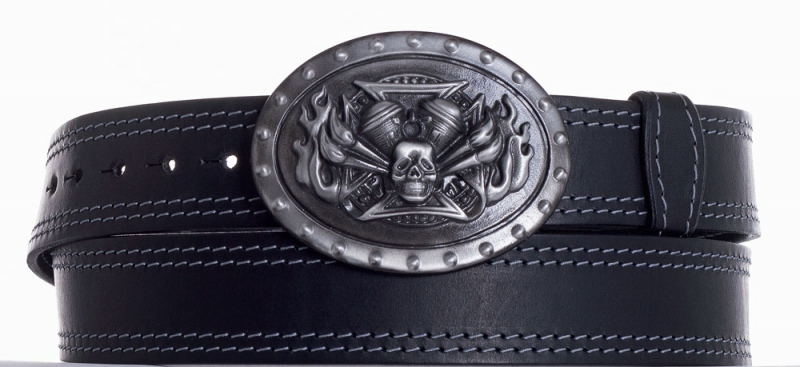Kožené opasky - Kožený pásek Motor ob2š.