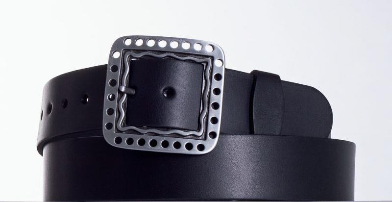 Kožené opasky - Černý kožený opasek 1474