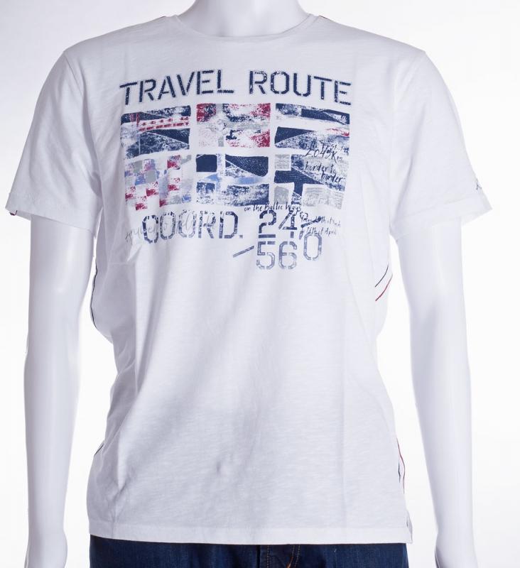 Pánská móda - Pánské bílé triko Jossi