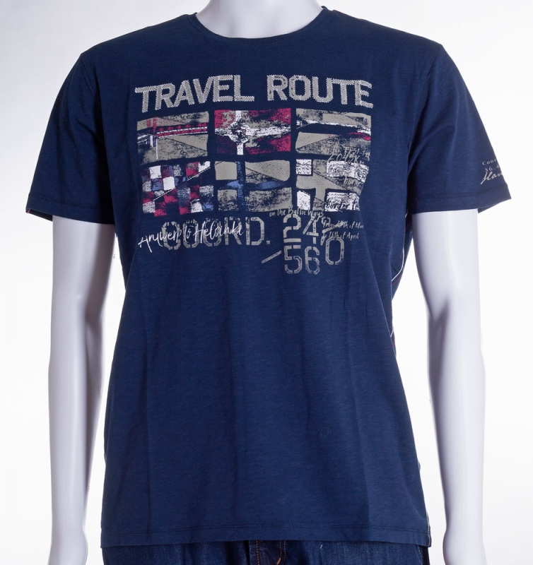 Pánská móda - Pánské modré triko Jossi