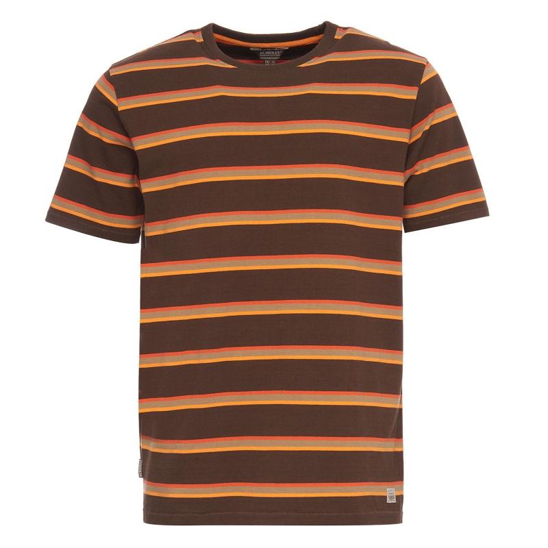 Bushman - Pánské triko Richford dark brown