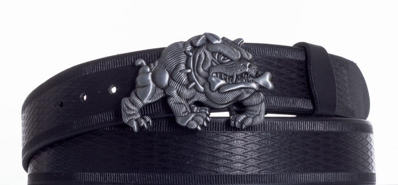 Kožené opasky - Černý kožený pásek Buldok vr.