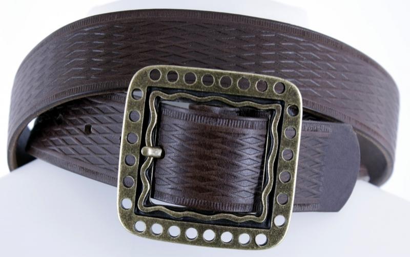 Kožené opasky - Pásek kožený 1474 vroubek