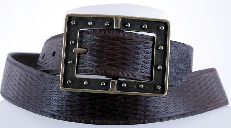 Kožené opasky - Pásek kožený 1473 vroubek