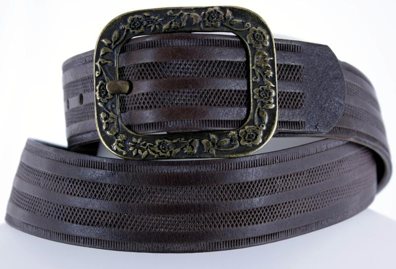 Kožené opasky - Pásek kožený 1469 proužek