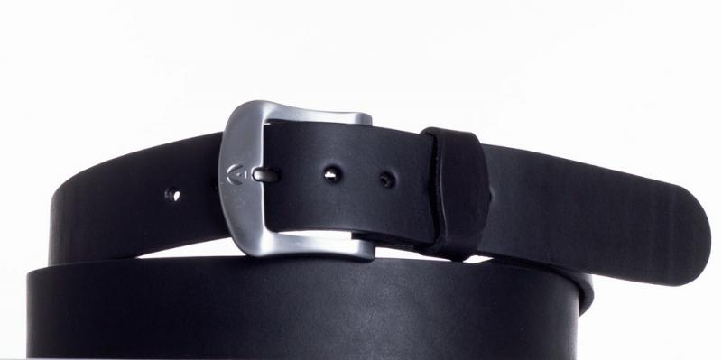 Kožené opasky - Kožený opasek černý 2052