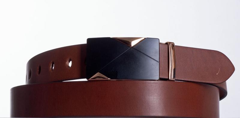 Kožené opasky - Společenský kožený opasek MT
