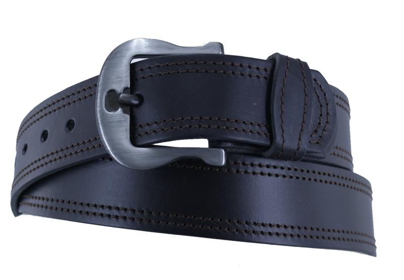 Kožené opasky - Opasek kožený černý 15 2ob.