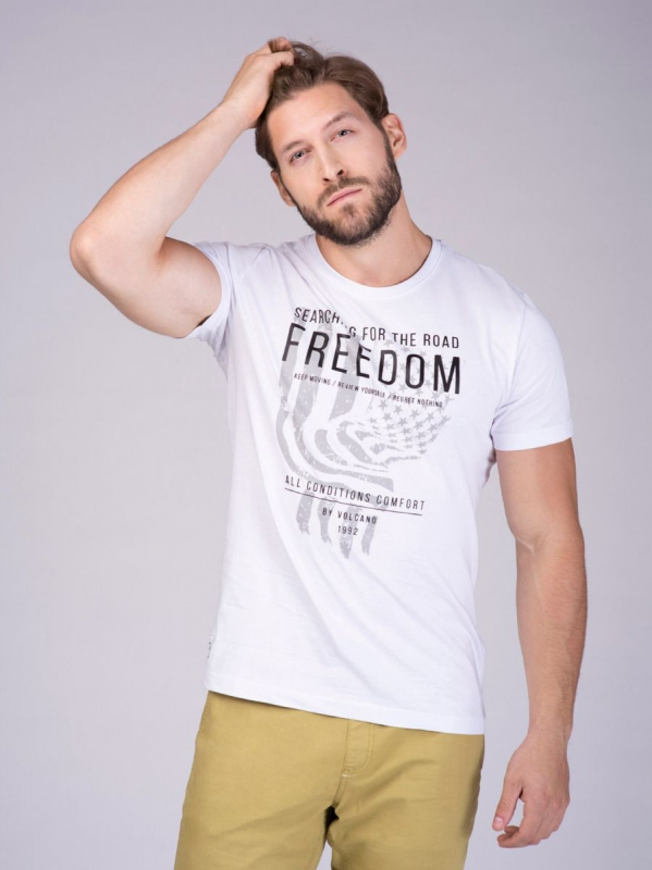Pánská móda - Pánské triko Edge bílé