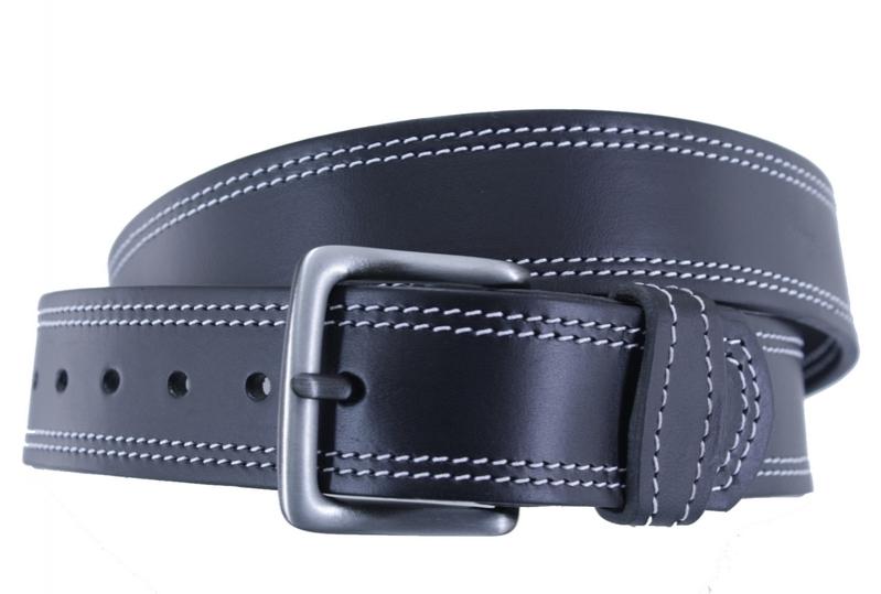 Kožené opasky - Opasek kožený černý 25 2ob.