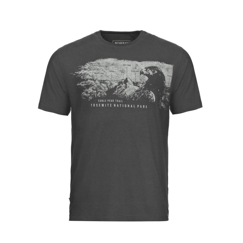 Bushman - Pánské triko Firebaugh dark grey