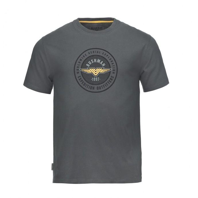 Bushman - Pánské tričko Oakhurst dark grey