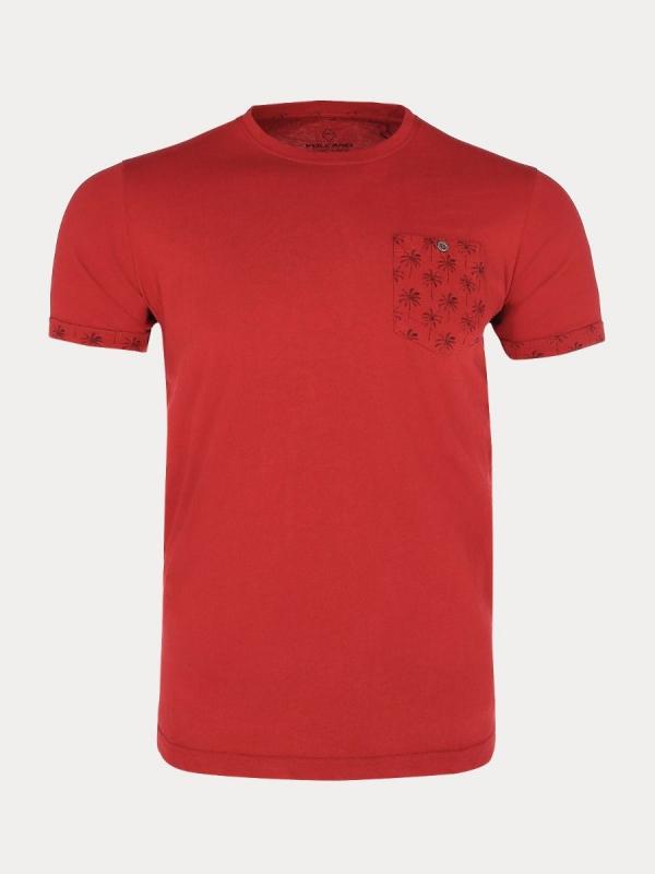 Pánská móda - Pánské triko červené