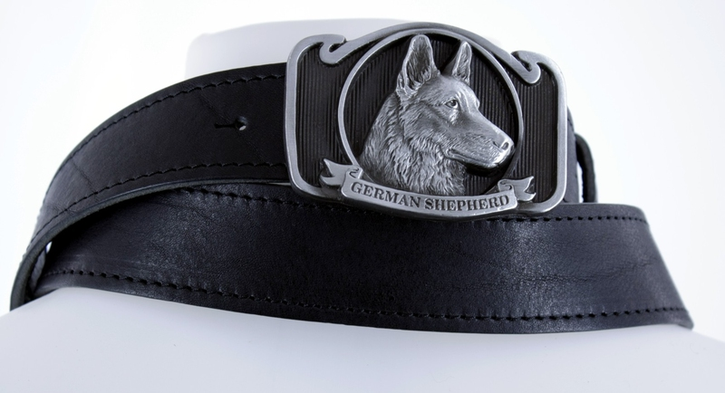 Kožené opasky - Kožený pásek ovčák obšitý