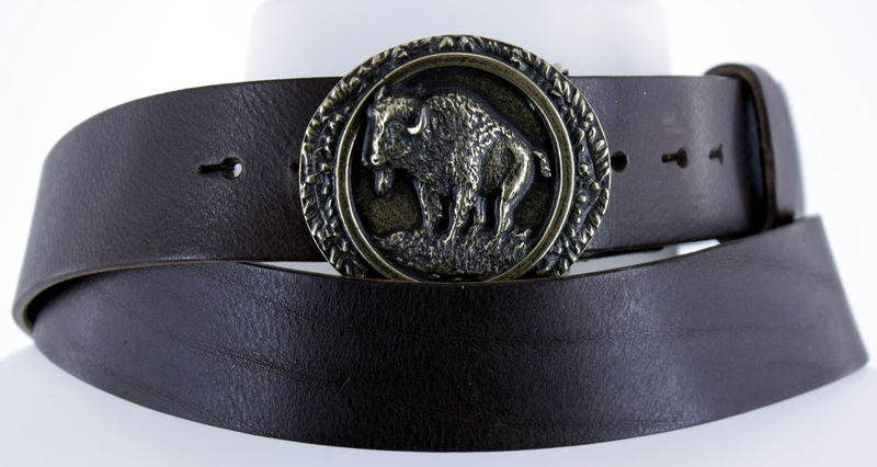 Kožené opasky - Pásek bizon