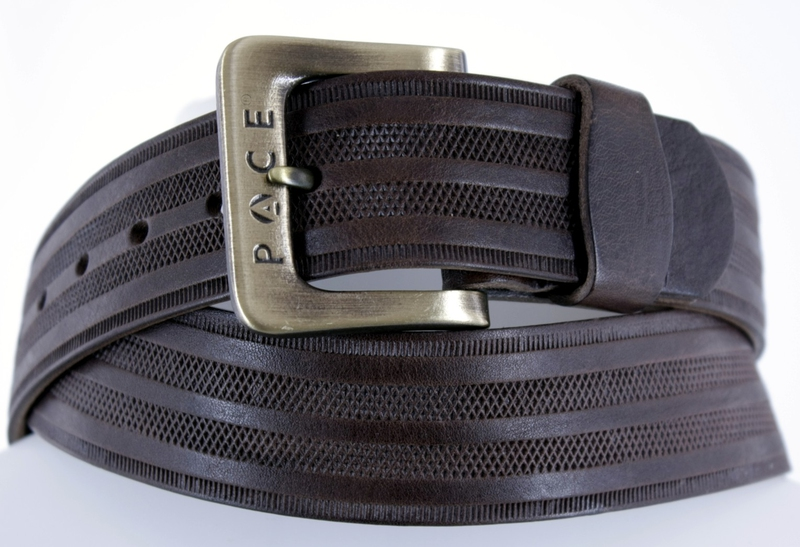 Kožené opasky - Pásek kožený 2005  proužek