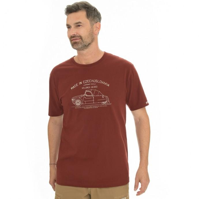 Pánská móda - Pánské triko Bobstock II burgundy