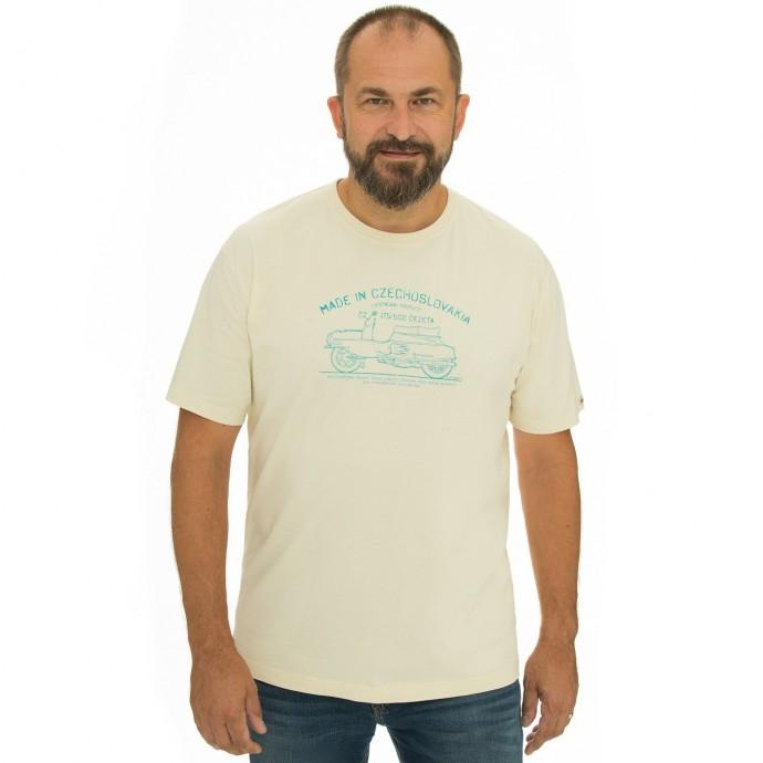 Pánská móda - Pánské triko Bobstock II cream