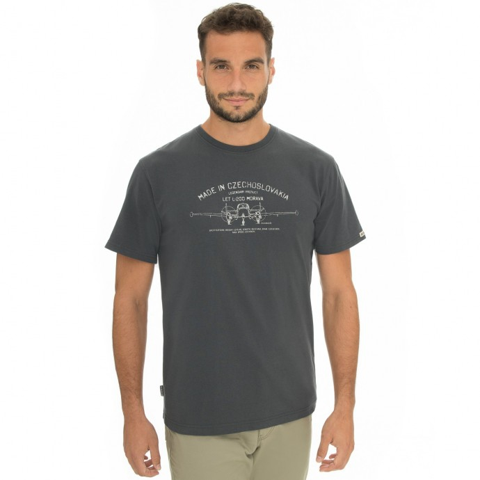 Pánská móda - Pánské triko Bobstock II dark grey