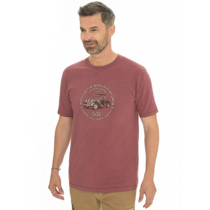 Pánská móda - Pánské triko Midland burgundy
