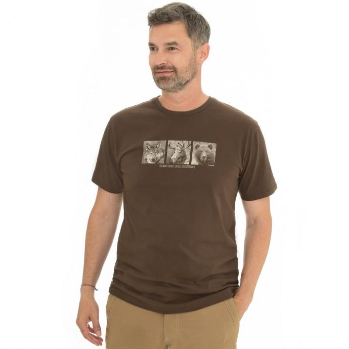 Bushman - Pánské triko Kalamzoo dark brown