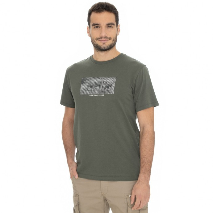 Bushman - Pánské tričko Kalamzoo dark green