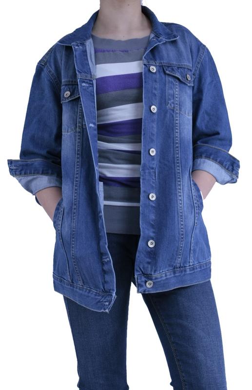 Dámské džíny - Dámská džínová bunda tm.