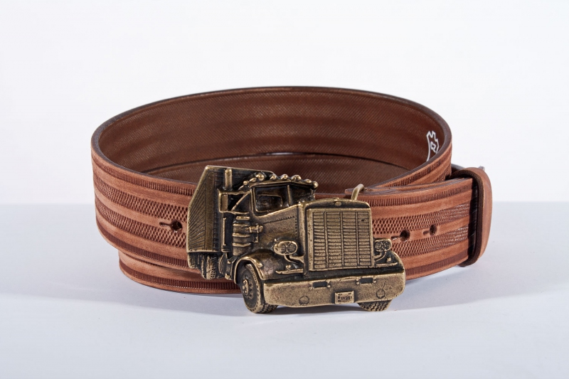Kožené opasky - Pásek kožený kamion řádek br