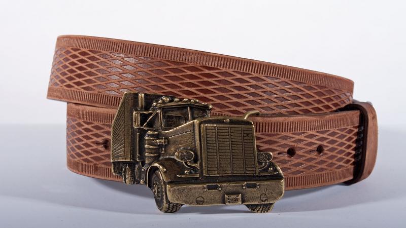 Kožené opasky - Pásek kožený kamion vroubek br