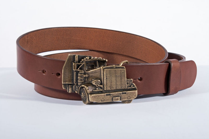 Kožené opasky - Pásek kožený kamion