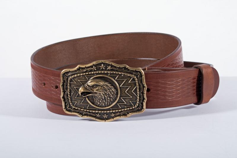 Kožené opasky - Pásek orel vroubek