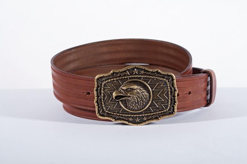 Kožené opasky - Pásek orel proužek