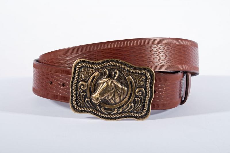Kožené opasky - Pásek kůň vroubek