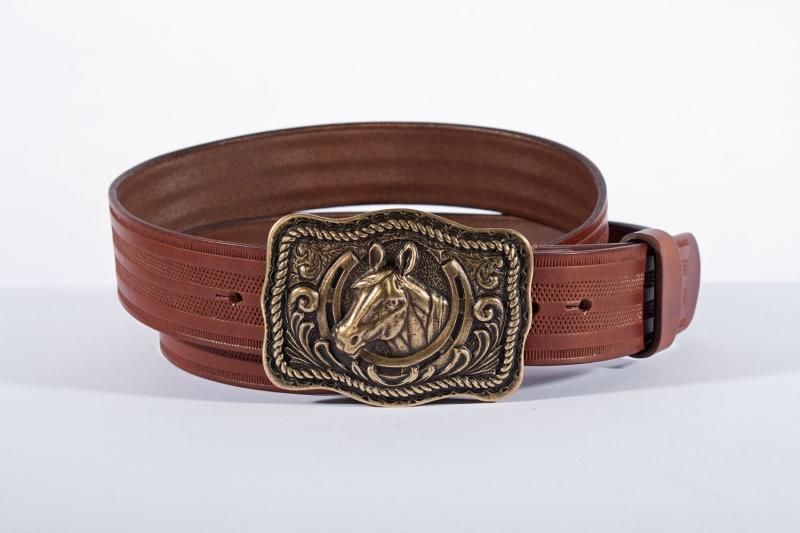 Kožené opasky - Pásek kůň proužek