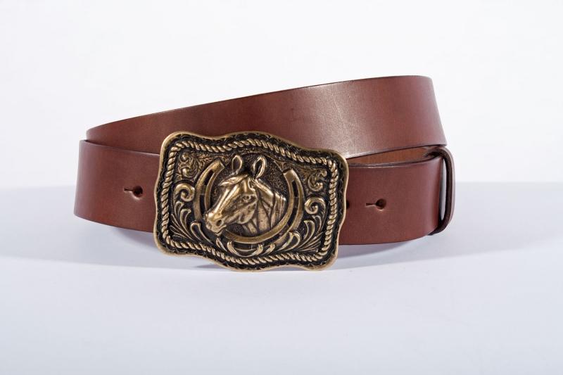 Kožené opasky - Pásek kůň