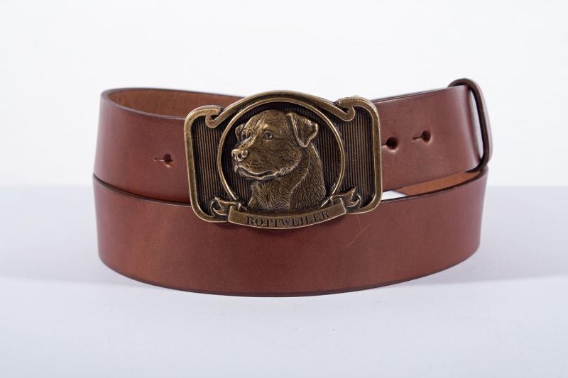 Kožené opasky - Pásek kožený rottweiler