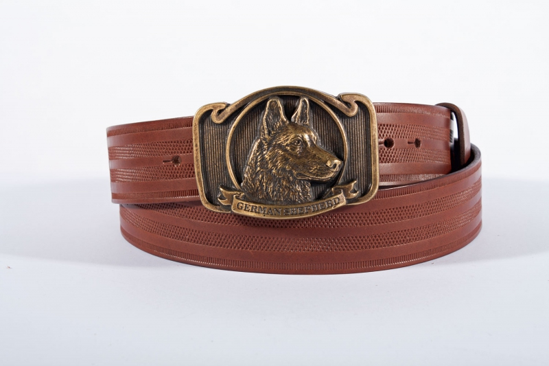 Kožené opasky - Pásek ovčák proužek
