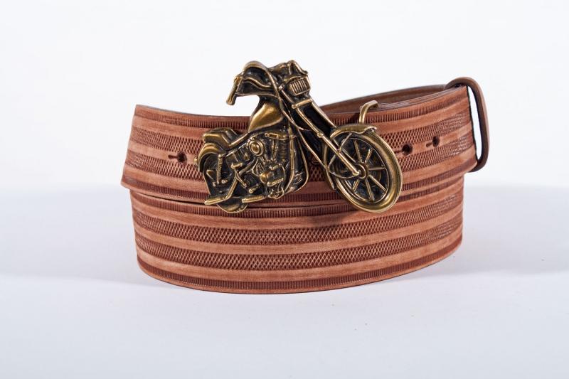 Kožené opasky - Pásek kožený moto řádek br