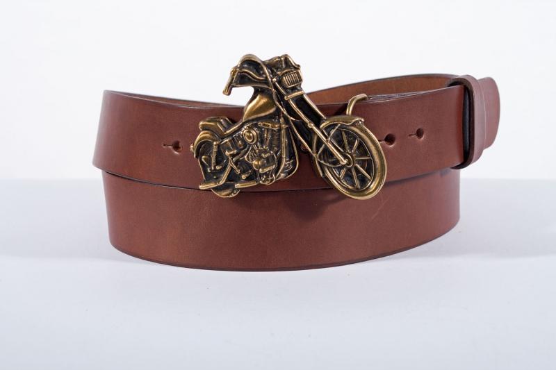 Kožené opasky - Pásek kožený moto