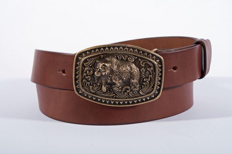 Kožené opasky - Pásek medvěd