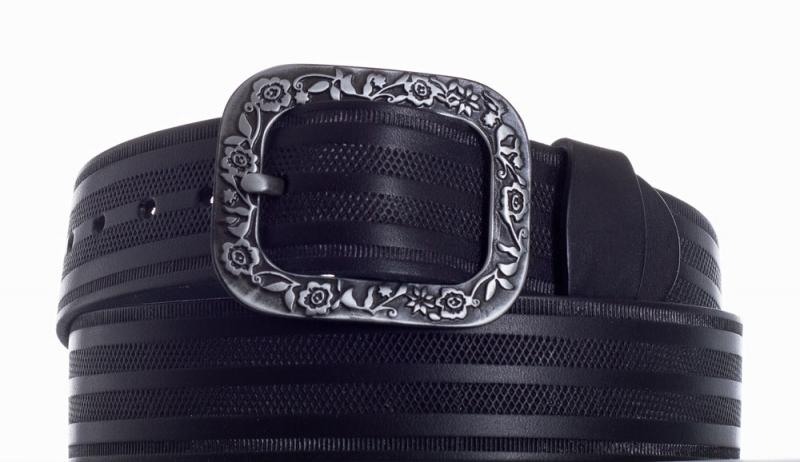 Kožené opasky - Opasek kožený černý 1469 pr.