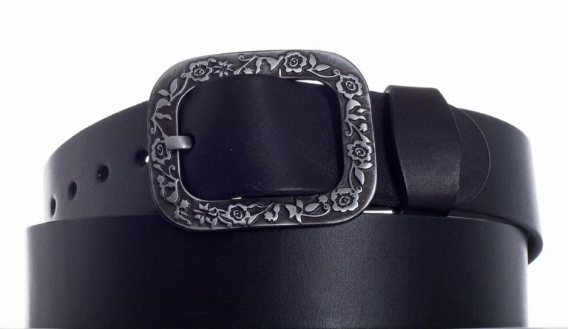 Kožené opasky - Pásek kožený černý 1469