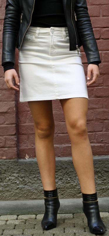 Dámské džíny - sukně bílá