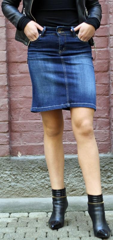 Dámské džíny - Džínová sukně 368