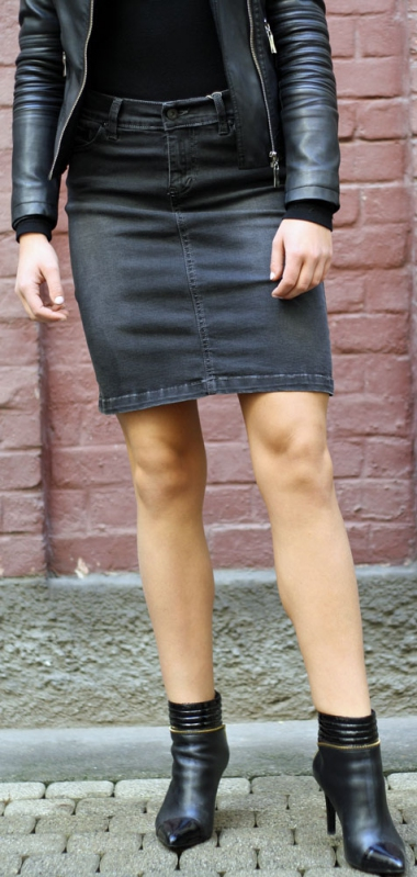 Dámské džíny - Dámská riflová sukně 505