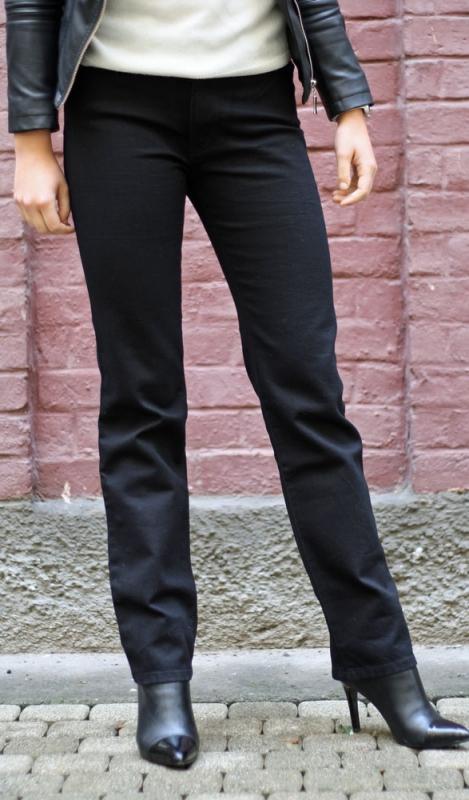 Dámské džíny - Dámské džíny Afrodita černé bzk.