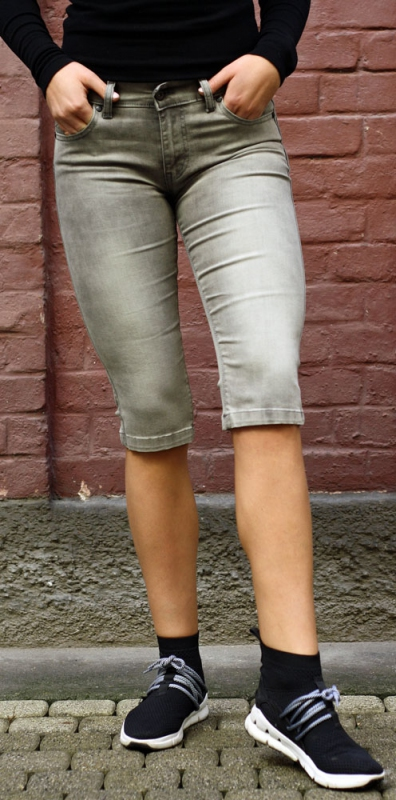 Dámské džíny - Dámské riflové kraťasy šedé