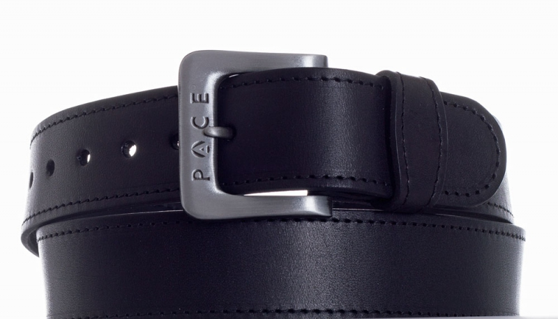 Kožené opasky - Černý pásek Pace jeans 2005 ob.š.